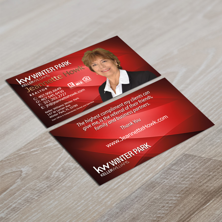 Real Estate Agent - Horizontal Business Card