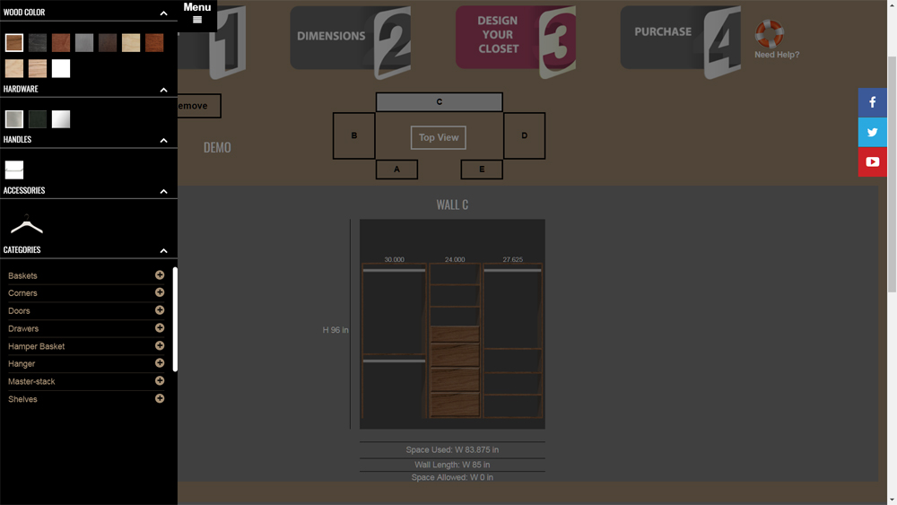 Software - Web App - Closet Builder